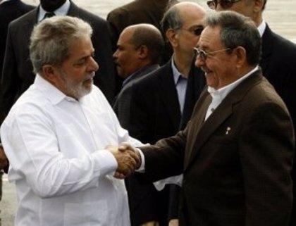 """Castro y Lula analizan el """"excelente estado"""" de las relaciones entre Cuba y Brasil"""