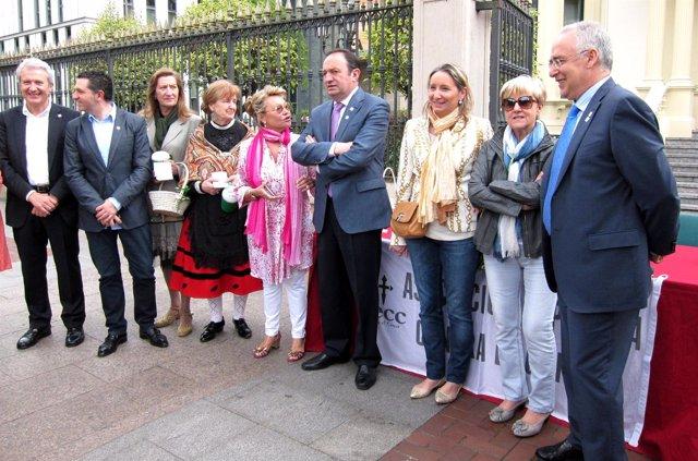 Pedro Sanz Participa En La Cuestación Anual De La AEC