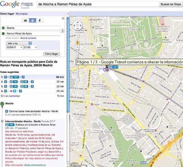 Google Transit Con Tiempo Real Por Google