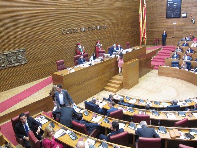 Momento De La Votación En Las Corts Valencianes