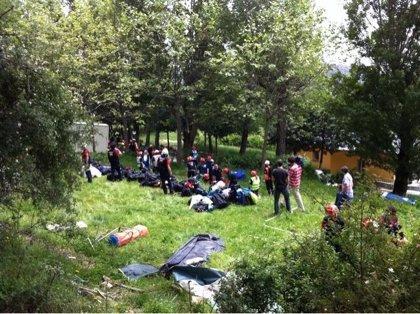 Madrid.-Más de 100 profesionales ensayan en Navacerrada un simulacro de terremoto en un país extranjero