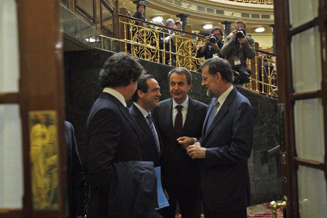Encuentro Zapatero, Bono y Rajoy