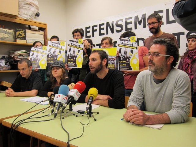 Rueda De Prensa 'Indignados' Barcelona