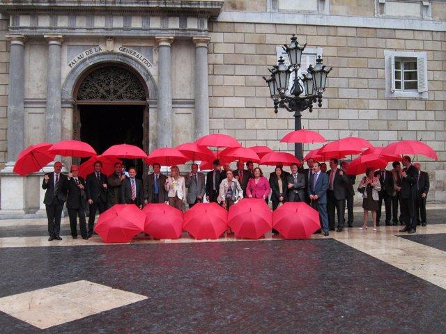 Representantes Patronal Aces Ante La Generalitat