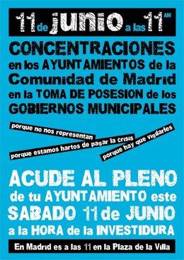 Cartel De La Concentración En El Toma De Posesión De Los Alcaldes