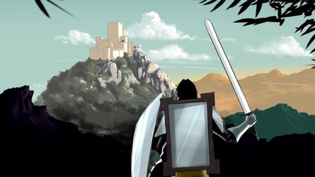 Captura De La Animación Del Caballero De Los Espejos