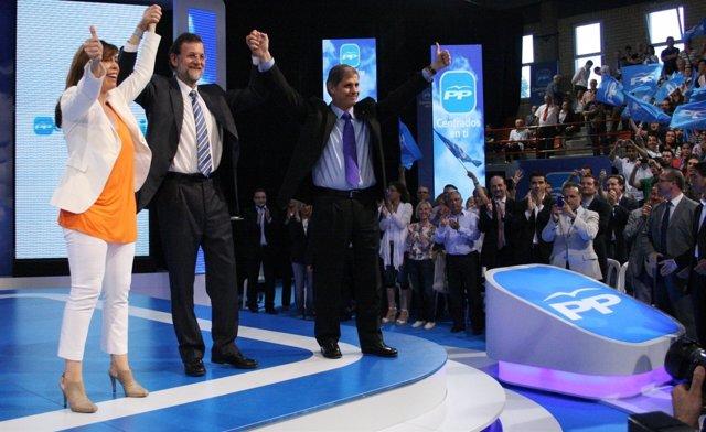 A.S.Camacho, M.Rajoy Y A.Fernández (PP)