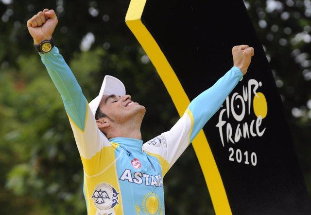 Alberto Contador gana su tercer tour de Francia