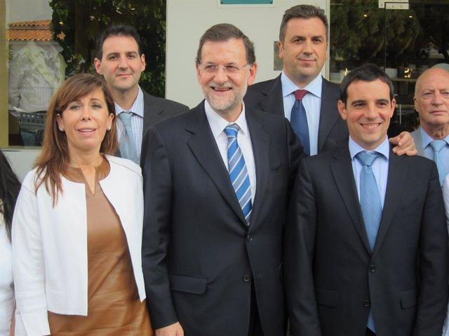 Alicia Sánchez Camacho, M.Rajoy Y Manuel Reyes (PP)