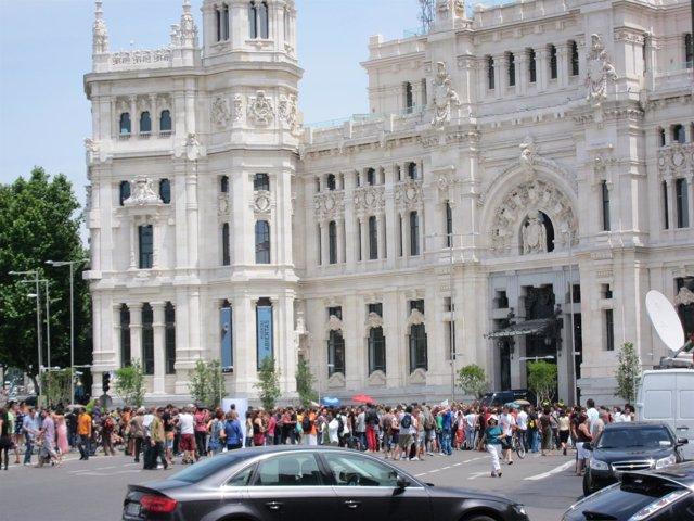 'Indignados' En La Plaza De Cibeles