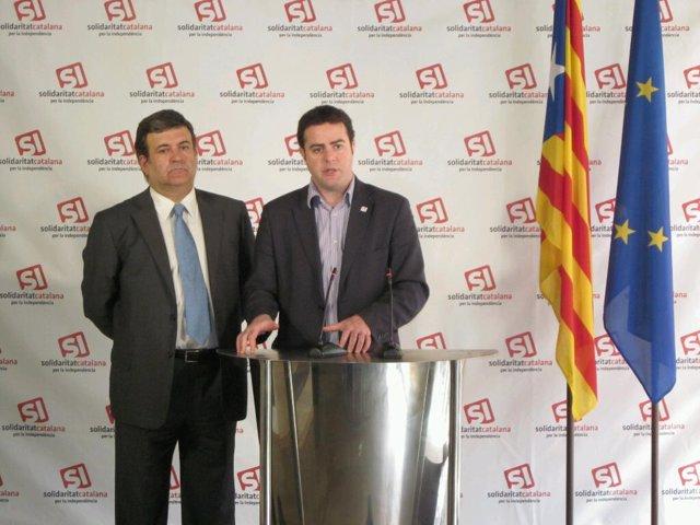Los diputados de SI Alfons López Tena y Uriel Bertran