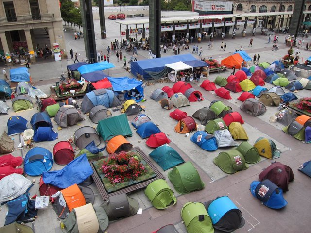Acampada 15M En Zaragoza