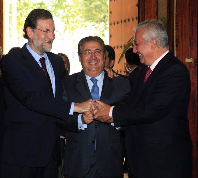 Rajoy, Arenas Y Zoido En La Investidura De Sevilla