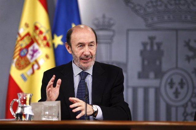Alfredo Pérez Rubalcaba, En El Consejo