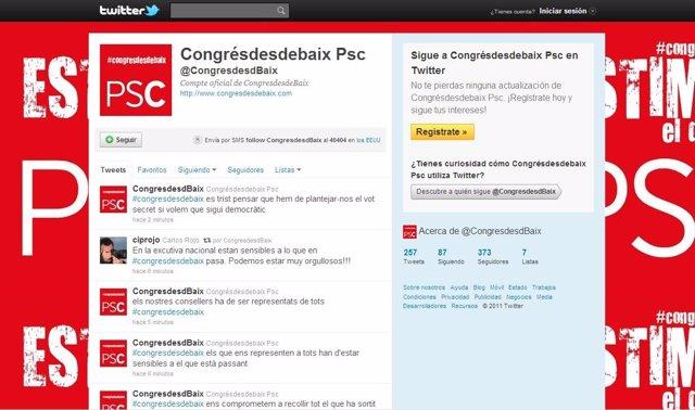 Página En Twitter De 'Congrés Des De Baix', PSC.