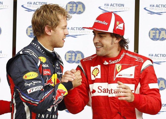 Sebastian Vettel Y Fernando Alonso En Canadá
