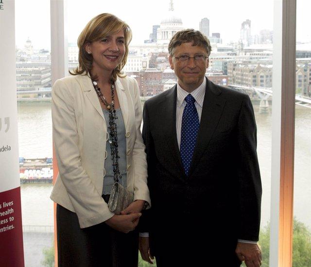 La Infanta Doña Elena Y Bill Gates