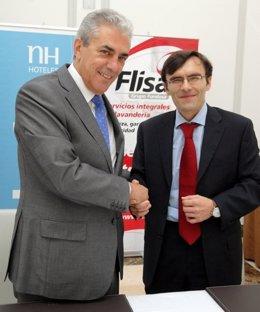 Mariano Pérez Claver (NH) Y Alberto Durán (Flisa) Firman El Acuerdo De Empleo