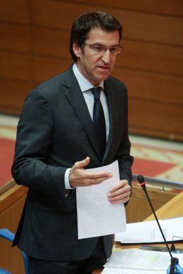 Alberto Núñez Feijoo en el Parlamento gallego