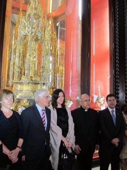 Sinde,Barreda, Y Page En La Catedral De Toledo