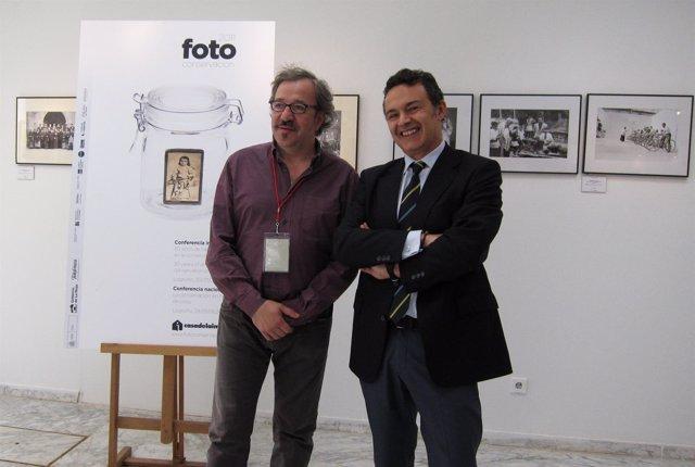 Jesús Rocandio Y Conrado Escobar En Fotoconservación