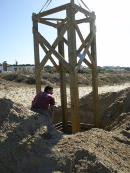Trabajos En La Playa De Mazagón.