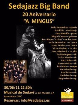 Cartel Del Concierto 'A Mingus' De La Sedajazz Big Band.
