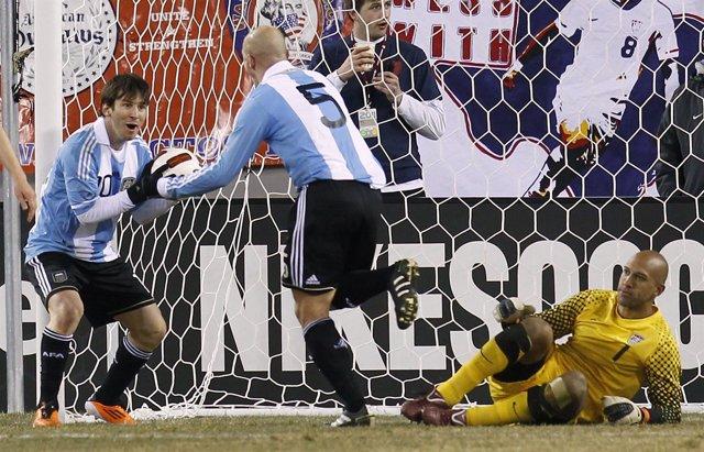 Messi con la selección de Argentina