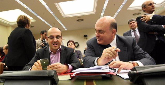Carles Campuzano (CiU) y Emilio Olabarria (PNV)