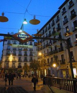 Plaza De Chueca En Madrid