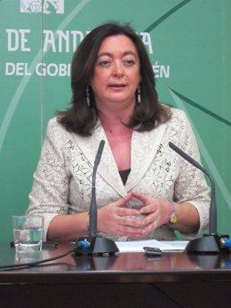 La Consejera De La Presidencia, Mar Moreno, En Rueda De Prensa En Jaén.
