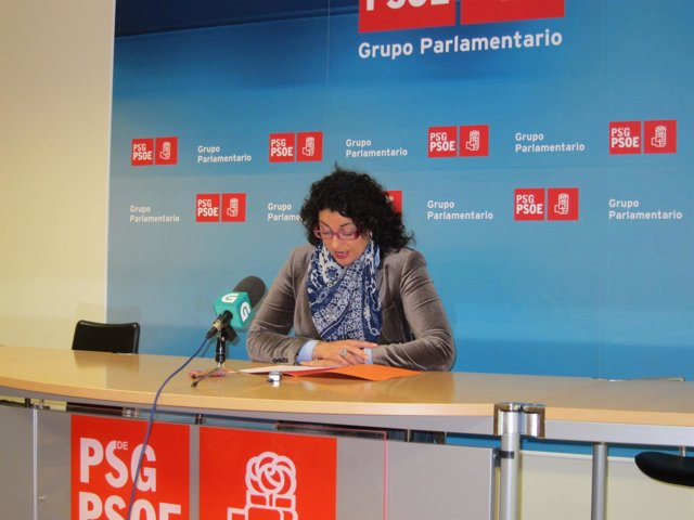 La portavoz de Medio Rural del PSdG, Sonia Verdes, en la rueda de prensa