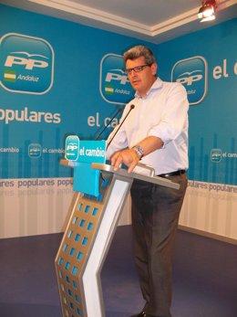 El Vicesecretario Del PP-A, Ricardo Tarno, Hoy En La Sede Regional