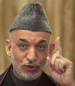 El presidente de Afganistán, Hamid Karzai