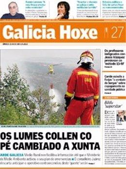 Portada De Galicia Hoxe