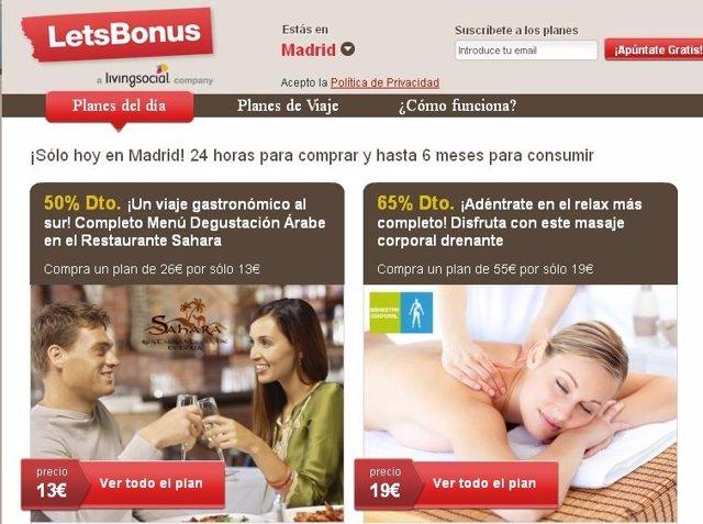 Página Web Letsbonus