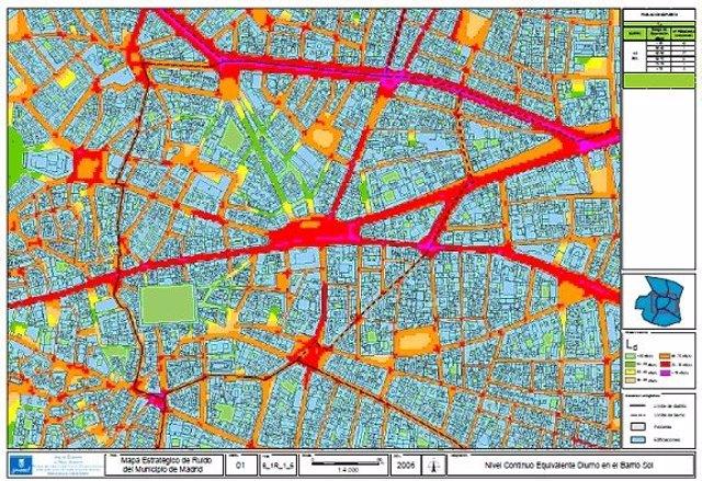 Mapa De Ruido De La Ciudad De Madrid