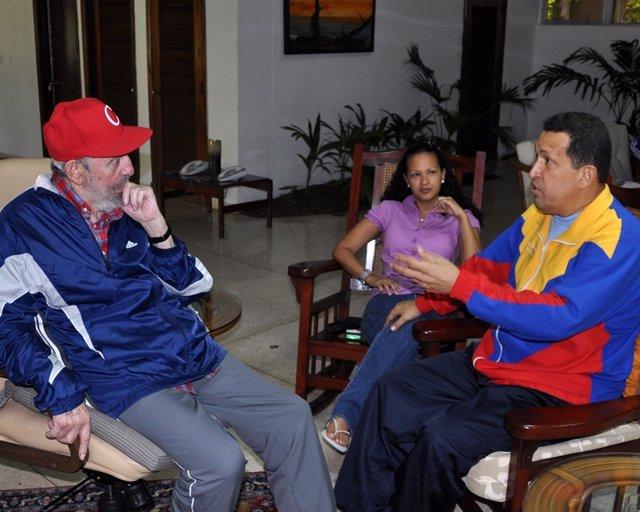 Fidel Castro Con Hugo Chávez En Cuba.