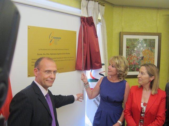 Esperanza Aguirre En La Inauguración De La Nueva Sede De Semergen