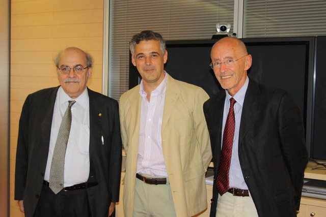 Andreu Mas-Colell, Luis Serrano Y Miguel Beato