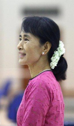 La Líder Opositora Birmana Aung San Suu Kyi