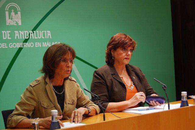 La Delegada Del Gobierno, Remedios Martel, Y La De Salud, Mª Antigua Escalera