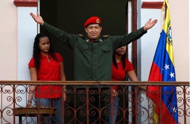 El Presidente Venezolano, Hugo Chávez, A Su Regreso Al País Tras Ser Operado.