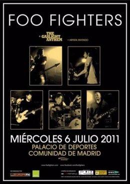 Cartel Promocional De Foo Fighters En Madrid