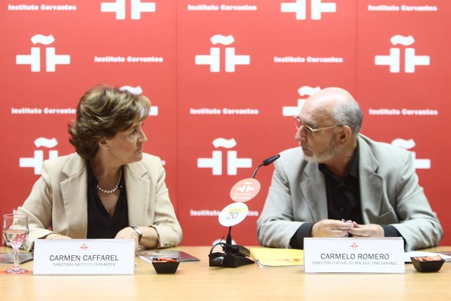 La Directora Del Cervantes, Carmen Caffarel, Y El Del Festival De Málaga, Carmel