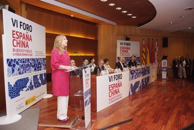Trinidad Jiménez Inaugura El VI Foro España China En Barcelona
