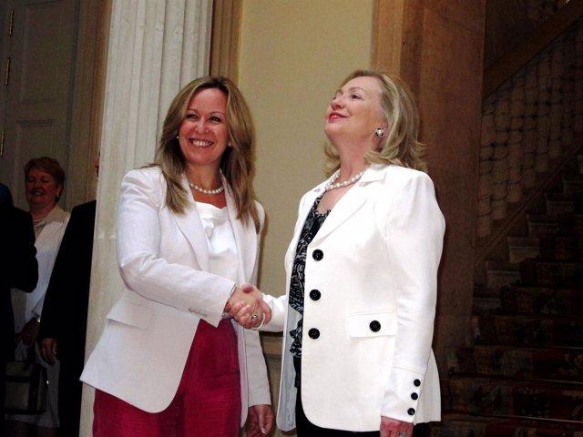 Hillary Clinton Y Trinidad Jiménez