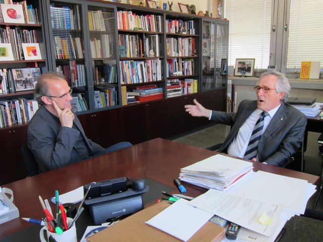 Ricard Gomà (ICV-Euia) Y Xavier Trias (Ciu)