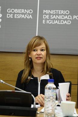 Ministra De Sanidad, Leire Pajin En Un Encuentro De Salud Pública