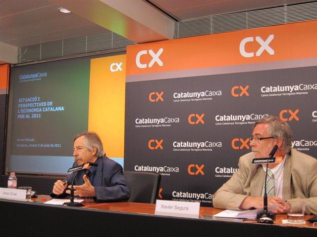 Josep Oliver (Dtor Del Informe) Y Xavier Segura (Dtor Estudios CX)